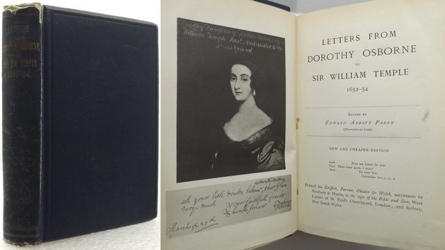 LETTERS FROM DOROTHY OSBORNE TO SIR WILLIAM TEMPLE 1652-54.