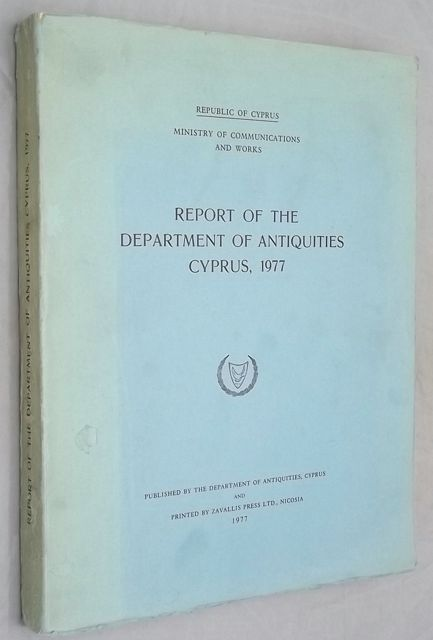 REPORT OF THE DEPARTMENT OF ANTIQUITIES CYPRUS, 1977.