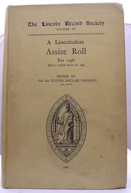 A LINCOLNSHIRE ASSIZE ROLL FOR 1298