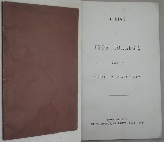 A LIST OF ETON COLLEGE,