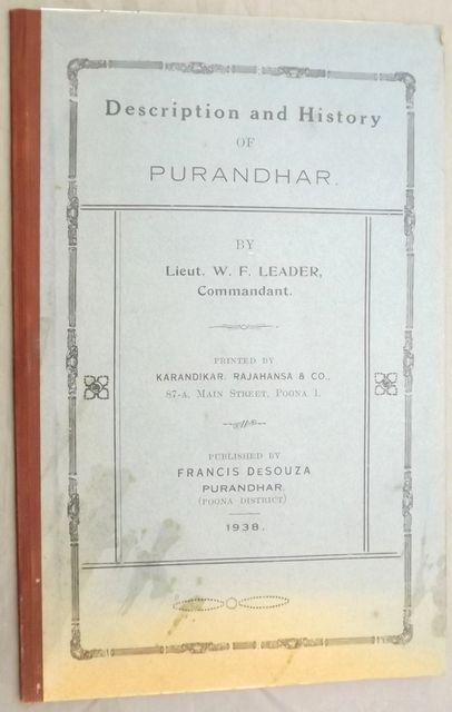 DESCRIPTION AND HISTORY OF PURANDHAR.