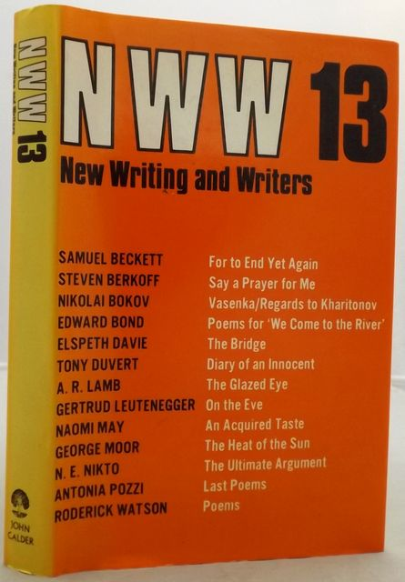 NEW WRITING AND WRITERS 13.