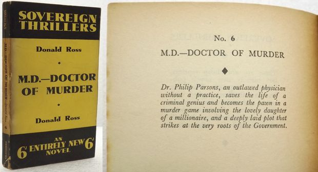 M.D. - DOCTOR OF MURDER.
